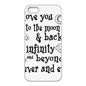 I Love You To The Moon And Back Cell Phone Case for Iphone 5s