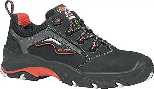 Chaussures de sécurité en ISO 20345S3SRC ESD Master Taille 43EN CUIR Nubuck Noir/Rouge