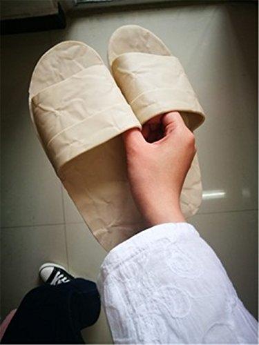 Parte Beige Baño Zapatillas Inferior Verano Baño Mujeres Hogar Frescas de TELLW Zapatillas Suave Interior Hogar Pareja Hombres Mujer Antideslizante t0fCdqUw
