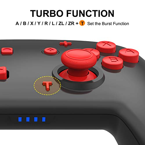Nintendo Switch Controller - Wireless Switch Pro Controller for Nintendo Switch, Switch Joystick Controller Remote Pro Controller Supports Gyro Axis, Turbo and Dual Vibration