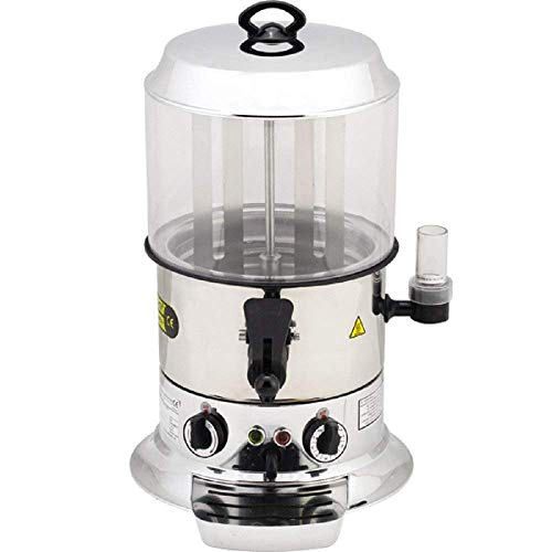 Shiny Silver Color 10 Liter / 22.05 lb. Capacity Industrial Size Commercial Hot Chocolate Maker Drinking Machine Electric Hot Chocolate Beverage Dispenser 220V