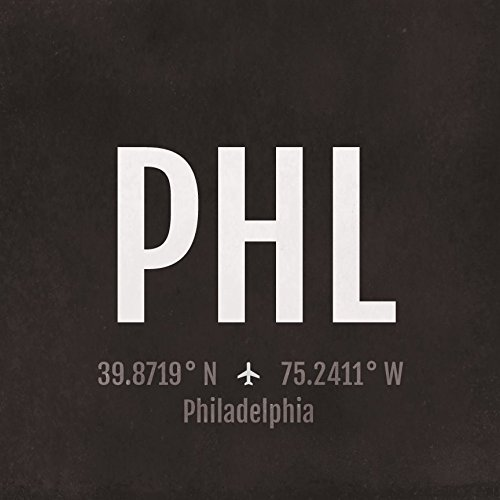 Philadelphia Airport Code Print - PHL Aviation Art - Pennsylvania Airplane Nursery Poster, Wall Art, Decor, Travel Gifts, Aviation Gifts