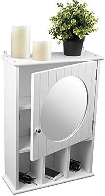 Armoire Murale Miroir Pour Salle De Bain Et Couloir 56 X 40 X 15 Cm