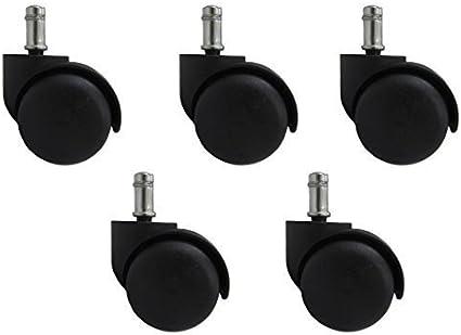 50/mm Nouvelles roulettes pour chaise de bureau lot de 5