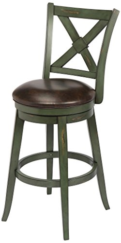Bailey Bar Height Swivel Stool, Green (Stool Bailey)