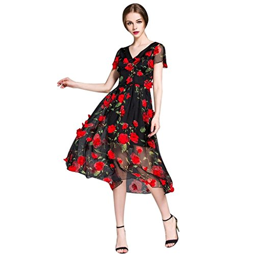 Red and black cocktail dresses cheap