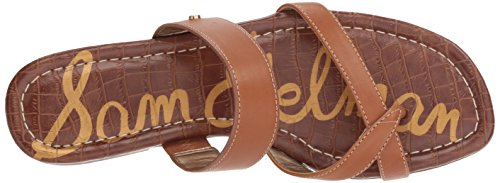 Leather Slide Edelman Saddle Sam Sandal Women's Bernice t1x7Y1qPw