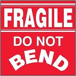 Paper Fragile Do Not Bend Package Handling Label - 4\