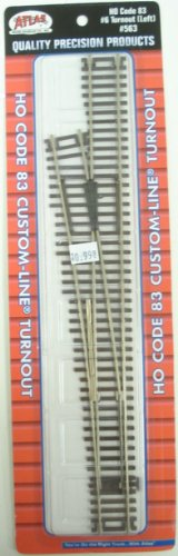 Remote Code 83 Switch Machine (Atlas HO Scale Code 83 Custom-Line #6 Turnout Manual Left)