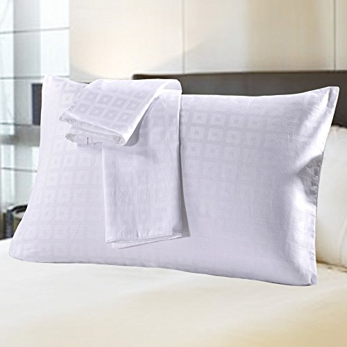 MELEARN 100% Cotton Pillowcases,Set of 2,Zippered Pillow Pro