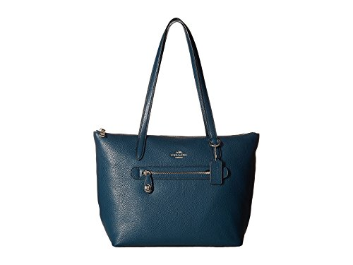 COACH Women's Pebbled Taylor Tote Sv/Mineral Handbag by Coach