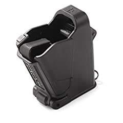 Speed up and simplify the pistol loading process with the Mag Lula UpLula universal magazine loader. Compatible with virtually all 9mm, 10mm, .357, .40-, and .45-caliber mags, the loader/unloader makes filling a magazine as easy as flipping a...