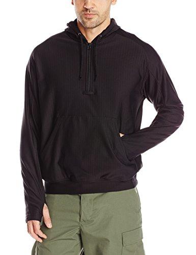 Tru-Spec Shirt, 24-7 blk Grid Fleece Hoodie, Black, 3X-Large