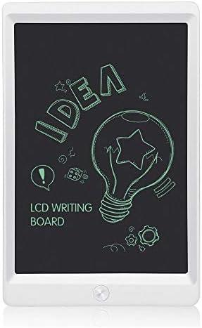 LKJASDHL 8.5インチの創造的なLCDタブレットの子供の落書きの絵画板電子軽いエネルギー黒板ホワイトボードのペン (色 : ホワイト)