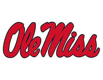 University of Mississippi Rebels Ole Miss Edible Cake Topper Image ABPID00423-1//2 sheet