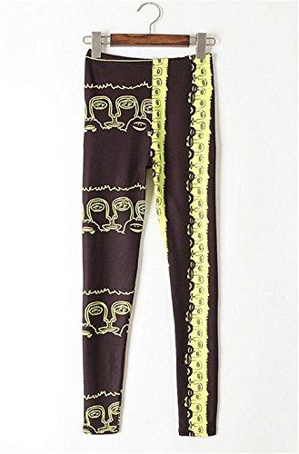 Libero Sportivi Colour Pantaloni 3 Hop Eleganti Elastico Pantalone Stampato Moda Ragazze Leggings Matita Tuta Donna Hip Skinny Style Festa Stile Pattern Per Tempo xqawnH10n