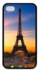 IMARTCASE iPhone 4S Case, Eiffel Tower Paris Sunrise Durable Case Cover for Apple iPhone 4S/5 TPU Black