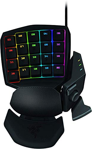 Razer Orbweaver Chroma - Teclado Gaming mecánico por un Mano para Juegos, USB 2.0, Color Negro