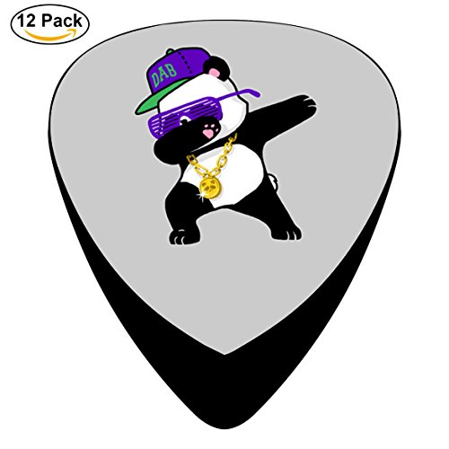 Guitar Picks Dabbing Panda Funny Dab Hip Hop 12-Pack Celluloid Plectrums for Guitar Bass (Five Nights At Freddys Guitar)