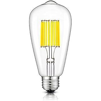 crlight led edison bulb 10w 5000k daylight white 1000lm 100w equivalent e26 medium base