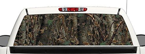 Camo Truck SUV Rear Window Graphic Decal Perforated Vinyl - Camo Window Tint