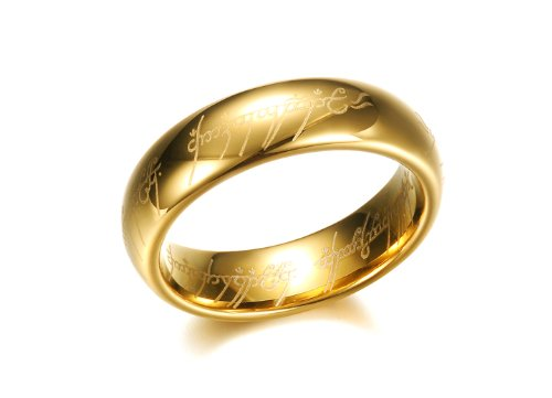 Asma Lord of the rings gold color ring for men Amazon Jewellery