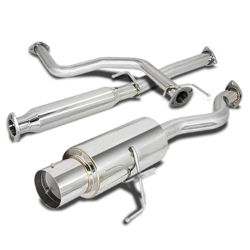 For Acura Integra RS/GS/LS 4 inches Muffler Tip Stainless Steel Catback Exhaust System