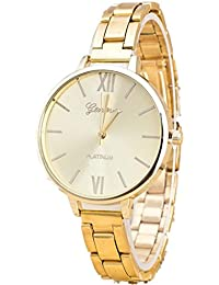 Hot Sale!! WILLTOO ❤ ❤Couple Retro Design Alloy Band Analog Alloy Quartz Wrist Watch (Gold)