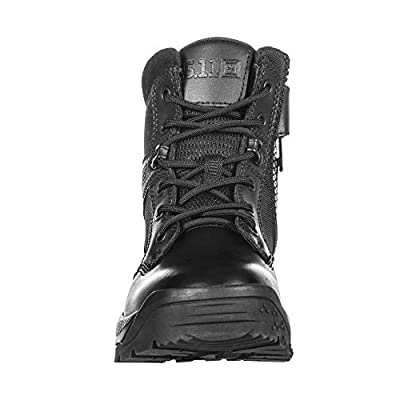 "5.11 Women's ATAC 2.0 6"" Tactical Side Zip Military Combat Boot, Style 12404, Black"