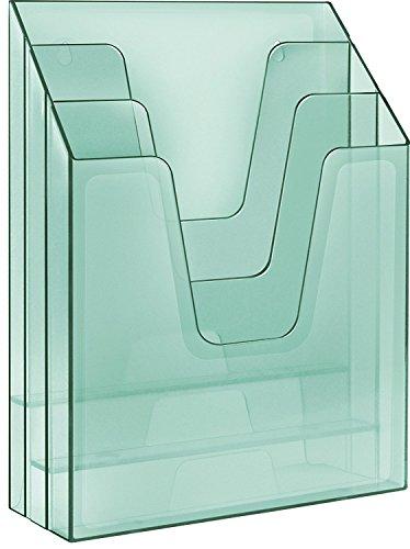 Acrimet Vertical File Folder Organizer (Clear Green)