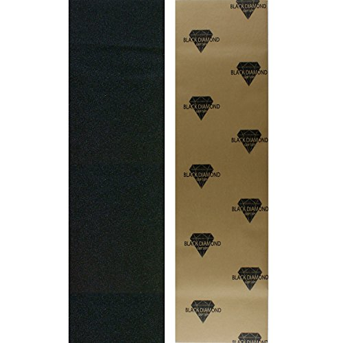 Black Diamond Longboard Skateboard Grip Tape Sheet Black (Longboard Skateboard Deck)