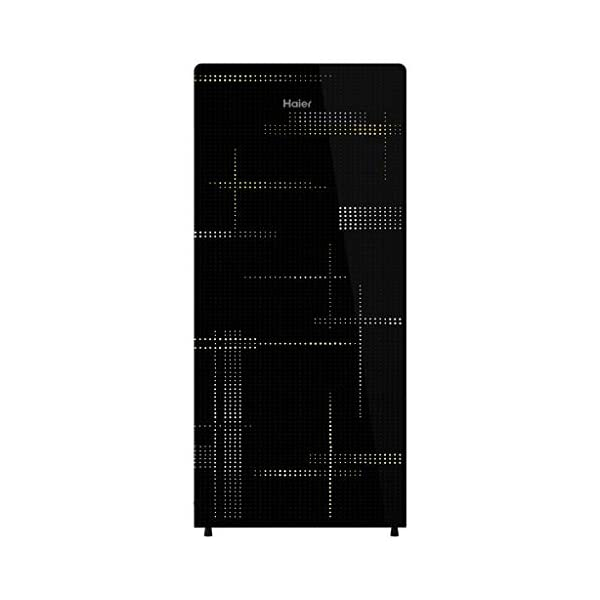 Haier 195 L 4 Star Single Door Refrigerator (HRD-1954CAG-E, Artistic Glass) 2021 August Direct-cool refrigerator with 1 Hour Icing Technology – ensures faster ice formation within 60 mins along with super-fast cooling. Capacity: 195 litres suitable for a small family. Energy rating: 4 star, Annual energy consumption: 128 per year