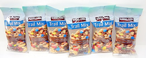 Kirkland Trail Mix Snacks 6 (2 Oz.) Packs - Peanuts, M&M's, Raisins, Almonds & ()