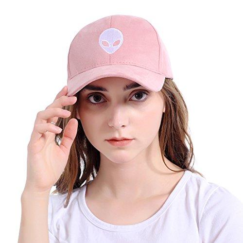 LeucosTicte Aliens Outstar Saucer Space E.T Pink Fabric Baseball Cap Hat