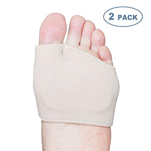 Hecmoks Metatarsal Pads Ball of Foot Cushions - Soft Gel Ball of Foot Pads - Mortons Neuroma Callus Metatarsal Foot Pain Relief Bunion Forefoot Cushioning Relief Women Men