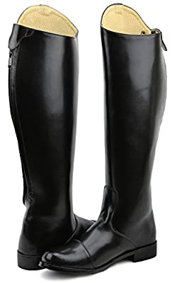 Hispar Mens Man STIRLING Dress Dressage Boots With Zipper English Horse Riding