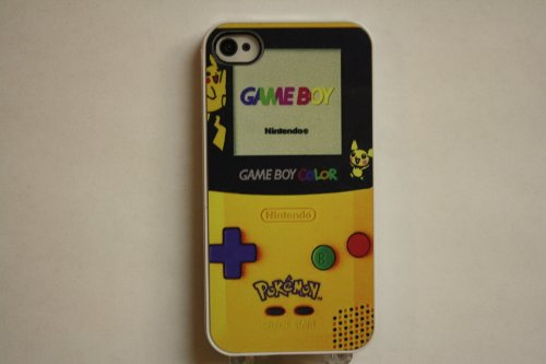 (556wi4) Pokemon Gameboy Apple iPhone 4 / 4S White Case - Pikachu!