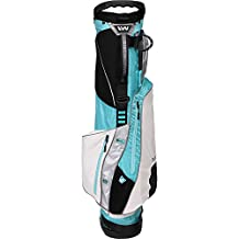 Wellzher T.E. Sunday V2 Golf Carry Bag (Non-collapsible) (Turquoise/White)