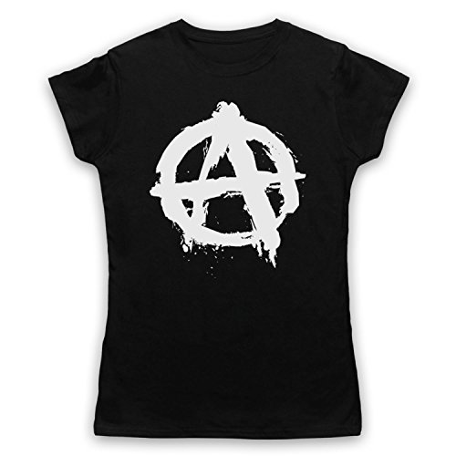 My Icon Art & Clothing Anarchy Logo Damen T-Shirt Schwarz x820a5ZMT