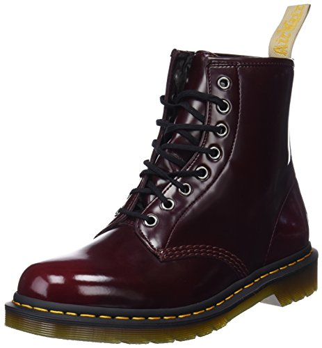 (Dr. Martens Unisex Vegan 1460 8-Eye Boots, Red, 6 M UK, M7/W8 M US)
