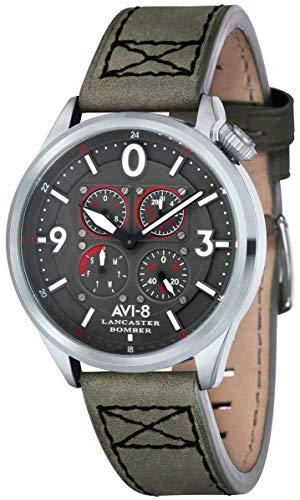 (AVI-8 Mens Lancaster Bomber Watch - Grey/Grey)
