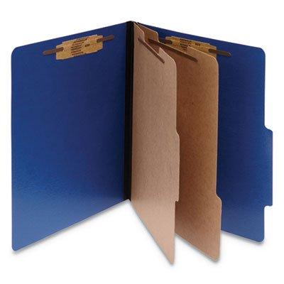 (COLORLIFE PRESSTEX CLASSIFICATION FOLDERS, 2 DIVIDERS, LETTER SIZE, DARK BLUE, 10/BOX)