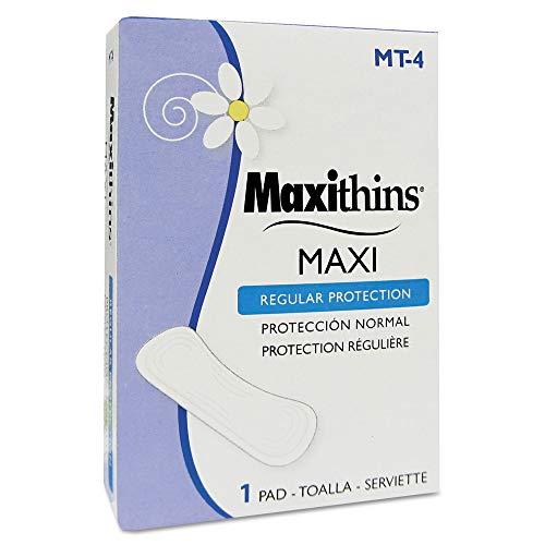 Carton Pad - HOSPECO MT-4 Maxithins Thin, Full Protection Pads, 250 Individually Boxed Napkins/Carton