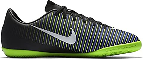 Nike Jr. Mercurial Victory VI Little/Big Kids' Indoor/Court Soccer Shoe (3 M US Little Kid, Black, Green, Blue)