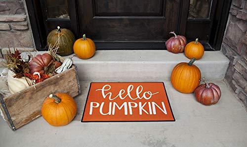 Halloween Doormat Outdoor Decor (Qualtry Halloween Indoor or Outdoor Doormat Welcome Mat - Personalized Designs Available, Unique Halloween Decor (Medium Size 24