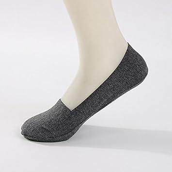 Liuxc Calcetines Calcetines Antideslizantes y Transpirables Calcetines Invisibles de Seda para Hombres Calcetines Antideslizantes Transpirables Ocio