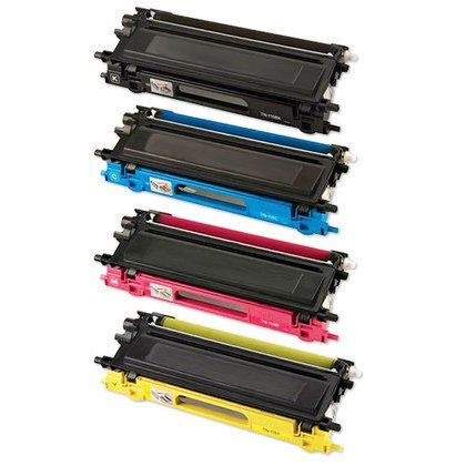 HI-VISION HI-YIELDS Compatible Toner Cartridge Replacement for Brother TN210 (1 Black, 1 Cyan, 1 Yellow, 1 Magenta, 4-Pack)