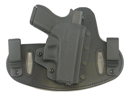 Hidden Hybrid Holsters, Beretta Nano with Lasermax CF-NANO - Black Kydex/ Black Leather- RH Draw