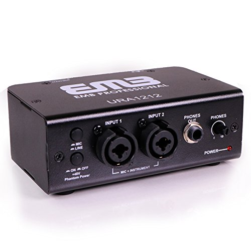 EMB URAI212 2 IN / 2 OUT USB Recording Interface For Digital Home Recording Or Professional Music Production by EMB