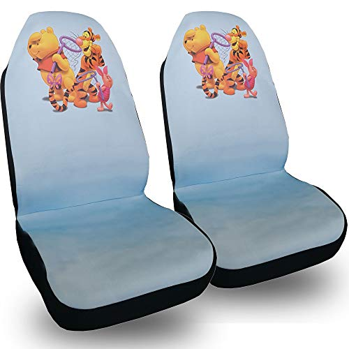 Disney Seats Car (Plasticolor Universal Size Disney Winnie The Pool Fabric Car Seat Covers Set)